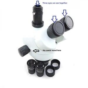 Image 5 - Цифровой микроскоп, 16 МП, 1080P, HDMI, USB, 7X 45X, симул фокальный Тринокулярный зум, стерео микроскоп, головка 20 мм, окуляр