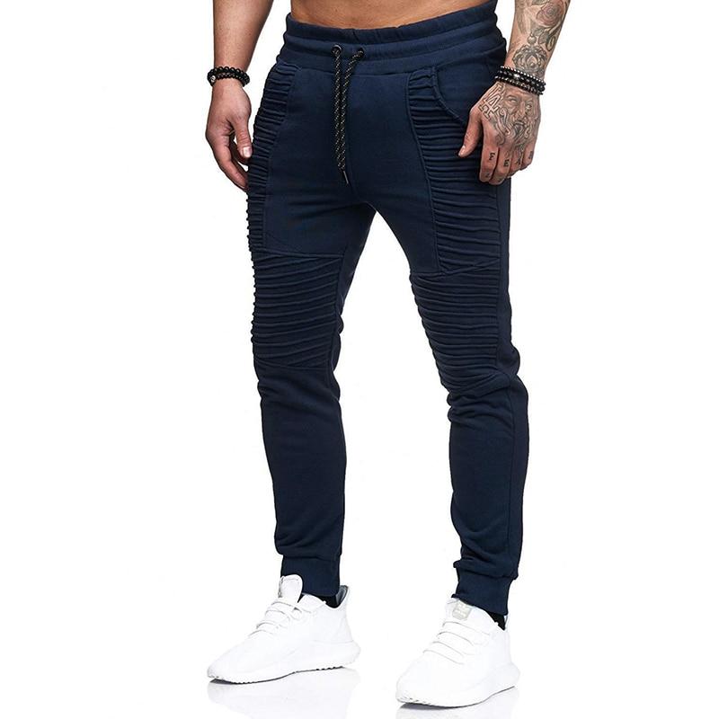 New Men Joggers Pants Male Trousers Casual Pants Men's Sweatpants Striped Designed Fitness Workout Hip Hop Sweat Pants MY049