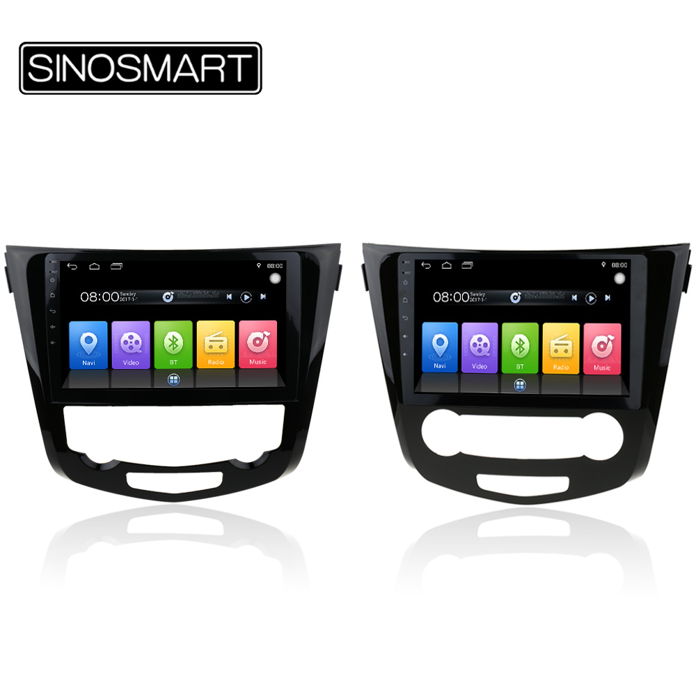 SINOSMART 2G/1G RAM Android 6.0 Car Radio Navigation GPS Player for Nissan X-trail/Qashqai 2013-2016 Support 360 view system