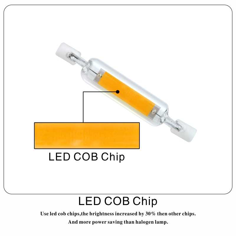 LARZI LED R7S Glass Tube 118mm 78mm Dimmable Instead Of Halogen Lamp Cob 220V 230V 4W 8W Energy Saving Powerful R7S Led Bulb