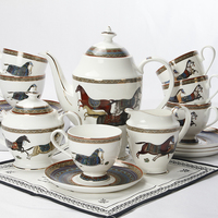 European ceramic coffee cup and saucer set bone china coffee classic