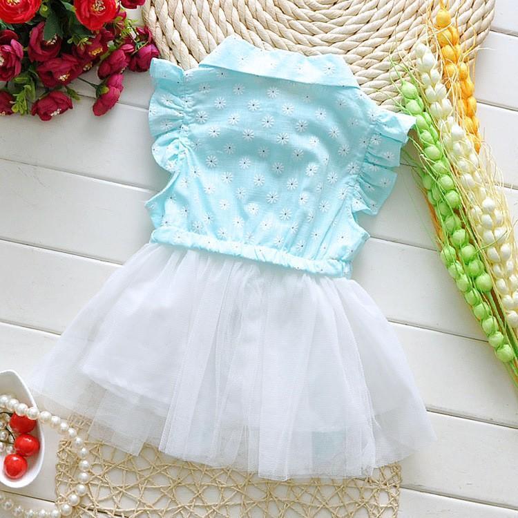 9c136a5e1 Summer Baby Dress Cotton+Lace Newborn Princess Dress Casual Flower ...