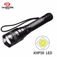 PANYUE Tactical Flashlight CREE XHP50 High Power 18650 battery 3000Lumens zoomable LED Aluminum 5 mode LED flashlight torch ultrafire c8q2 500lm 5 mode led flashlight w cree q2 1 18650