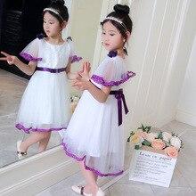 6cf872a1d8 2019 nowe letnie dziewczyny dzieci zachodniej księżniczka 3D kwiat sukienka  wygodne słodkie ubranka dla dzieci odzież dla dzieci