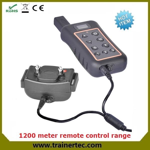 큰 LCD 표시 CE 및 RoHS 및 보험 1200M 전자 진동 개 충격 목걸이