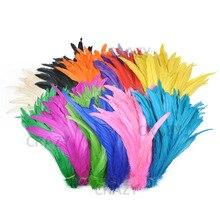 Оптовая продажа куриное перо 25-30 см натуральные хвостовые перья птиц для украшения Ремесло перо Рождество перо для рукоделия