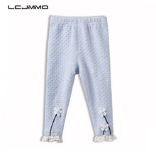 LCJMMO 2018 Spring Autumn Baby Girls Leggings New Kid Toddlers Warm Comfortable Cotton Soft Lace Flower Stretchy Pants Trousers