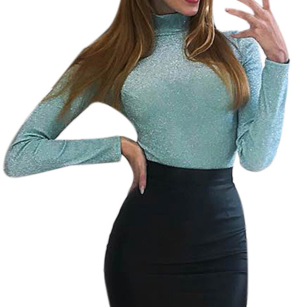 Ishowtienda Women Blouses Summer 2018 Casual Solid Bandages Off Shoulder Full Sleeve Tops Blouse Ladies Blouses Koszula Damska Harmonious Colors Women's Clothing
