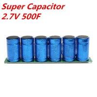 New 1Pc Farad Capacitor Kit 6Pcs 2 7V 500F Super Capacitors With Protection Board Capacitors 16V