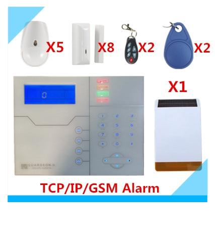 2018 Бесплатная доставка веб IE Управление ST VGT TCP/IP GSM сигнализация Системы дома охранной сигнализации с Открытый солнечной Strobe Siren