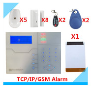2018 Free shipping Web IE Control ST VGT TCP/IP GSM Alarm System Home Security Alarm with Outdoor Solar Strobe Siren