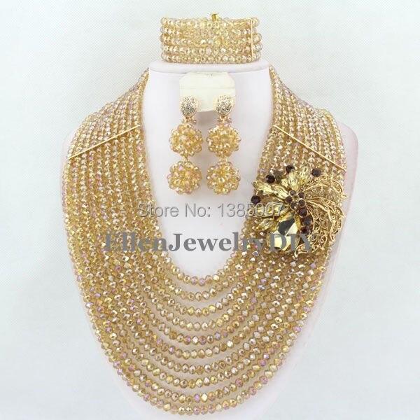 Indien africain perles bijoux ensemble cristal perles collier ensemble africain bijoux ensemble cristal bijoux ensemble livraison gratuite W6298