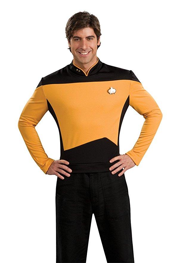 Star TNG The Next Generation Trek Red Yellow Blue Shirt Uniform Cosplay Costume For Men Coat Halloween Party 2