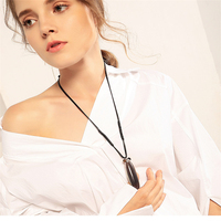 Valentine S Day Gift Laconic Long Ceramic Copper Handmade Necklaces Chinese Style Pendant Fashion Rope Chain