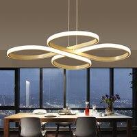 AC85 260V современная светодиодная Люстра для столовой Бар Кухня алюминиевая акриловая белая подвесная люстра лампа бесплатная доставка