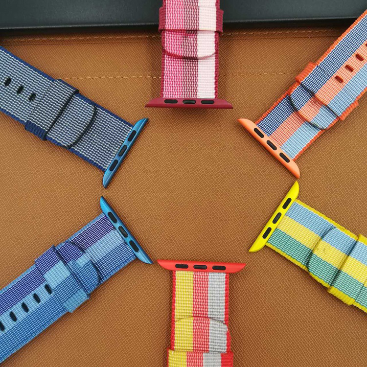 Woven Nylon strap band for apple watch band 42 mm 38 mm sport bracelet & fabric nylon watchband watch Accessories survival nylon bracelet brown