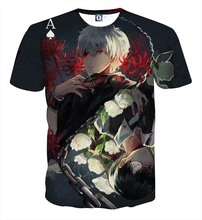 Tokyo Ghoul Graphic T-Shirts Tees Short Sleeves Summer Ken Kaneki