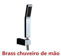 Chorm square brass hand shower +shower hose+ABS holder for hand shower one set for sale German quality