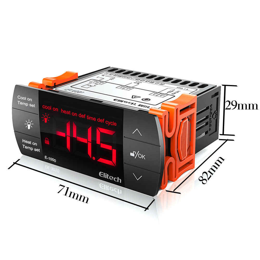 medium resolution of  220v touch light control waterproof panel thermostat temperature controller defrosting measuring range 50 90