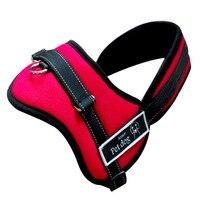 Reflective Large Dog Harness Personalized Padded Dog Harness Adjustable Pet Chest Strap Dog Belt Red Black