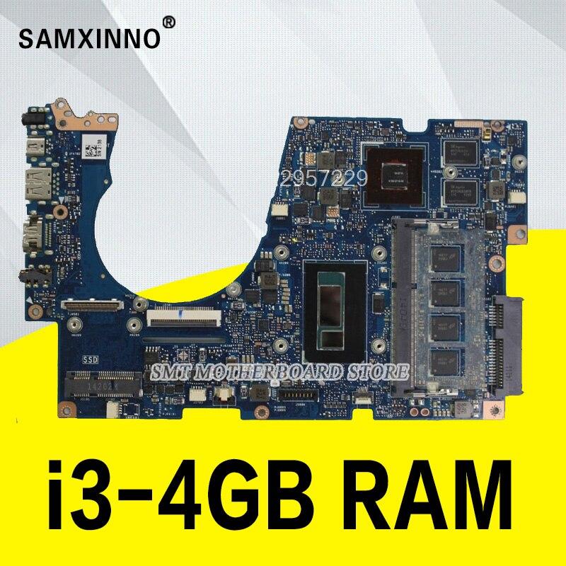 UX303LN Motherboard REV2.0  I3-4GB RAM GT840M For ASUS UX303 UX303L U303L Laptop Motherboard UX303LNB Mainboard 100% Tested