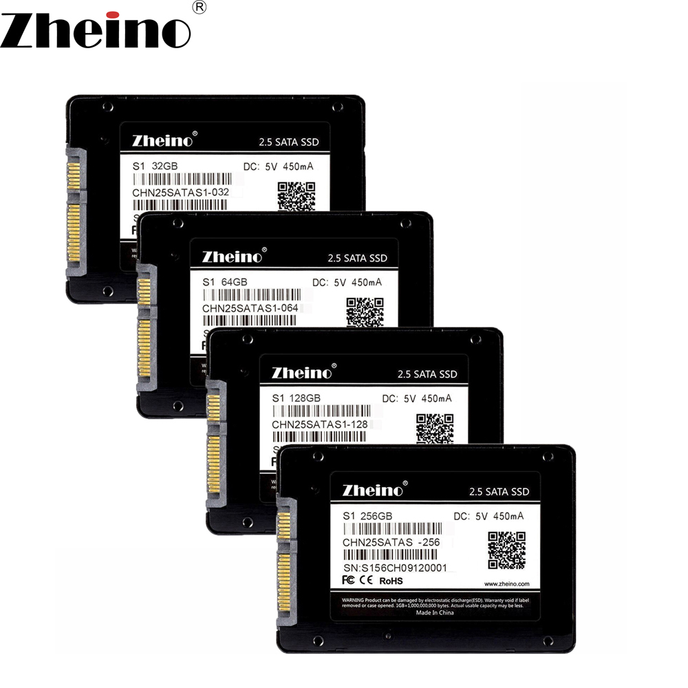 Zheino S1 2.5 inch SATA 32GB 64GB 128GB 256GB 512GB SSD SATA3 Internal Solid Disk Drives MLC 7mm Hard Disk Drive for PC Laptop