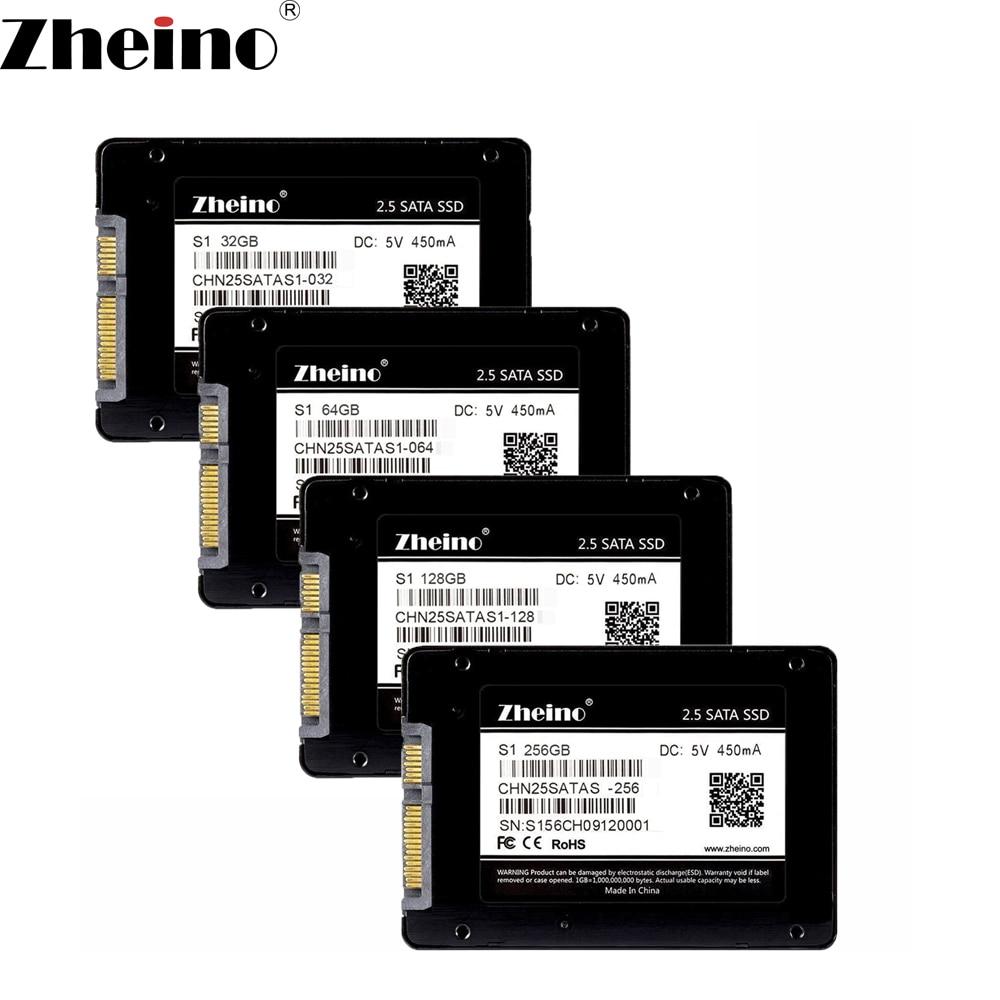 Zheino S1 2.5 polegada SATA 32 GB 64 GB 128 GB 256 GB 512 GB SSD SATA3 Unidades de Disco MLC Internal Solid 7mm Hard Disk Drive para PC Portátil