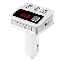 Muti-función de Cigarrillos Pantalla LED Encendedor Bluetooth Llamada de Teléfono de Manos Libres Kit de Coche MP3 Transmisor FM Cargador de Coche 3 USB puerto