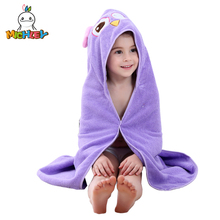 MICHLEY 0-7 Kids Towel Spring Girl Cute Hooded Cartoon Boy Beach Animal Clothes Children Colorful Cotton Bathrobe WEB