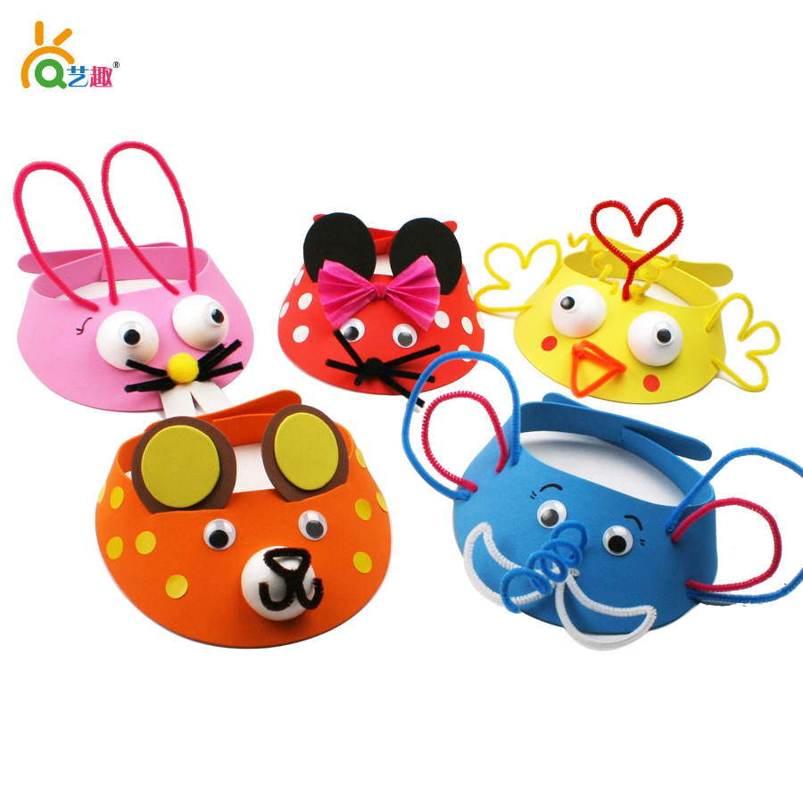Online buy wholesale hat crafts kids from china hat crafts for Craft hats for kids
