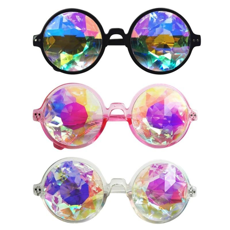 2019 Új Kaleidoszkóp Női Napszemüveg Modell Catwalk Szemüvegek Férfi Dazzle Mesterséges gyémánt Lencse Steam Punk