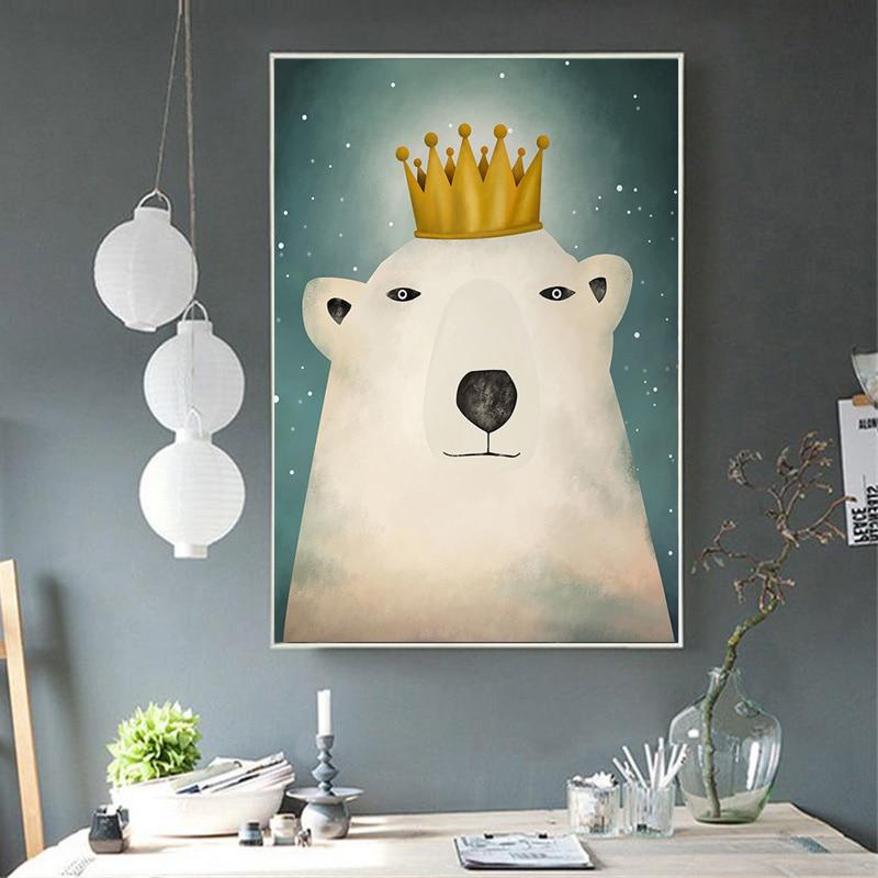 Купить художественная зона современный милый мультяшный медведь живопись