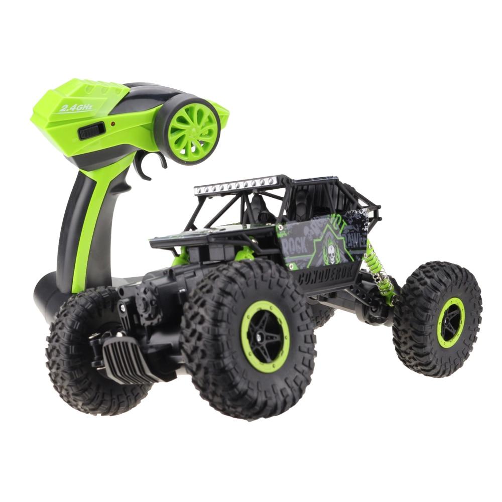 Lynrc RC coche 4WD 2,4 GHz coche escalada 4x4 Doble Motors Bigfoot coche de Control remoto modelo de vehículos todo terreno de juguete