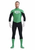 Nylon Lycra Green Lantern Halloween Cosplay Costume Mens Spandex Green Lanten Costume Ideas Superhero Party Fancy