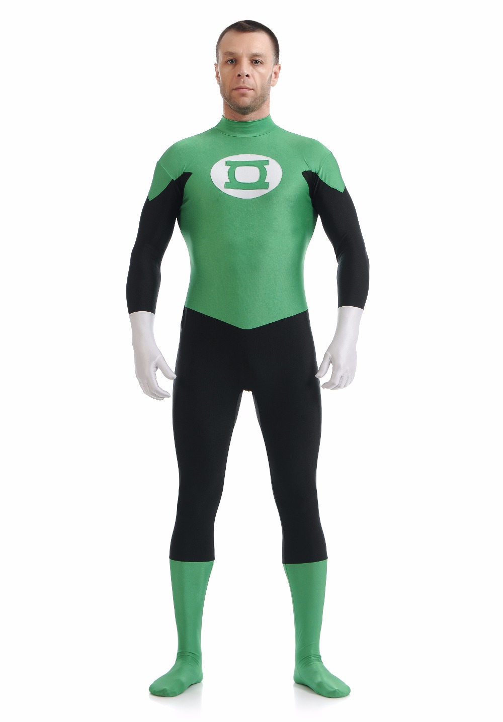 aliexpresscom buy nylon lycra green lantern halloween cosplay costume mens spandex green lantern costume ideas superhero party fancy dress costums from - Green Halloween Dress