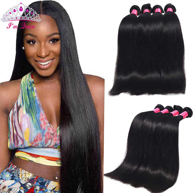 Malaysian Straight Hair 4 Bundles Malaysian Virgin Hair Straight 7A Unprocessed Virgin Malaysian Straight Human Hair Weaves