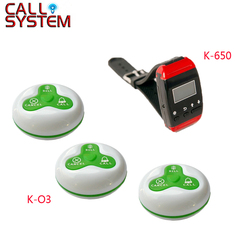 5 Watches 25 buttons Wireless Waiter Calling System For Restaurant Service Pager System