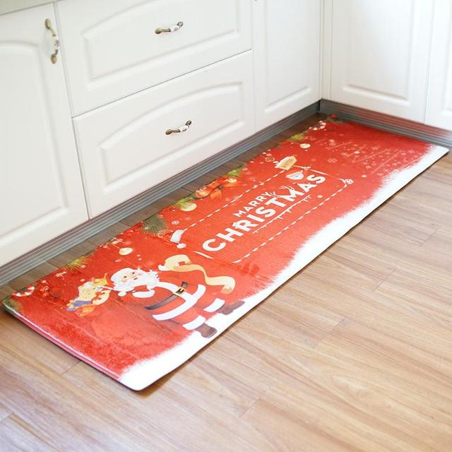 christmas door mats outdoor. 180*60*cm Anti-slip Floor Carpet Christmas Bedroom Bathroom Kitchen Mats Outdoor Door