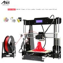Anet A8 Acrylic + Lead Screw 3D Printer Large Printing Size  220*220*240mm Reprap i3 DIY 3D Printer Kit Desktop 3d Printer Kit недорого
