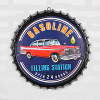 50cm Classic Beer Bottle Cap Artcrafts Metal Tin Signs Home Art Decor Sticker Iron Poster Home Decorative Retro Wall for Bar Pub