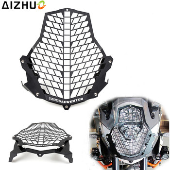 Motorcycle Headlight Guard Grill Stainless Steel Motorbike Front Lamp Light Protective Light Cover For KTM 1290 Super Adventure