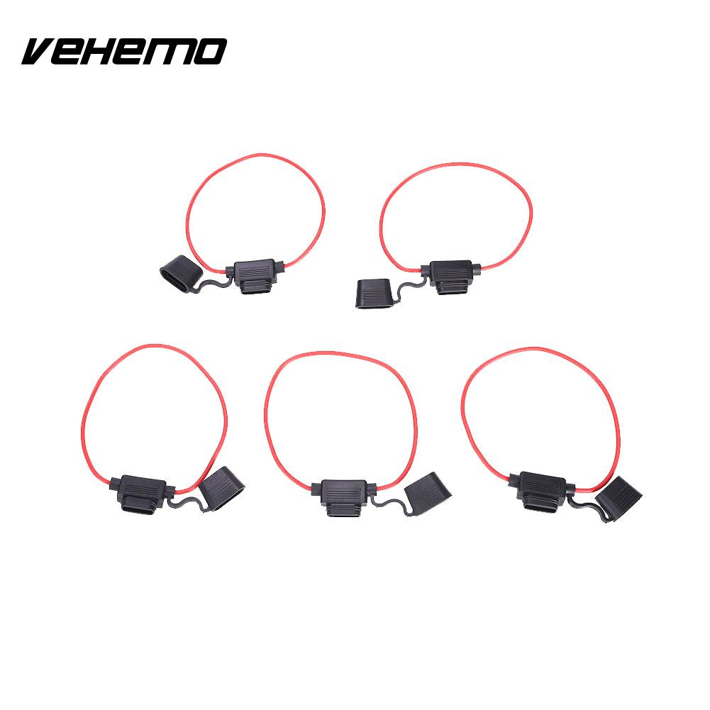 Vehemo 5PCS DC 12V 20A Car Fuse Holder Fuse Block