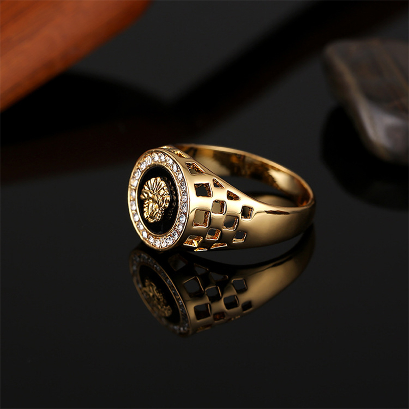 Lion Head Finger Rings Classic Men's Punk Rock Style Hip Hop Ring Fashion Gold Silver Leopard Wolf Ring for Men Women 2019 New image