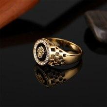 52f8ac98e2ce Nuevo anillo de moda de color dorado plateado clásico para hombre estilo  Punk Rock Hip Hop