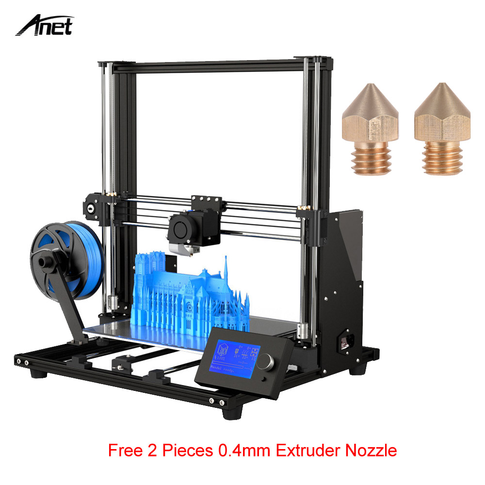 New Arrival Upgraded Anet A8 High-precision DIY A8 Plus 3D Printer Self-assembly 300*300*350mm Aluminum Alloy Frame Moveable LCD(China)