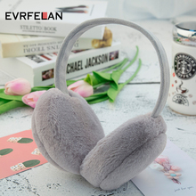 Evrfelan/Зимние теплые наушники для женщин; хлопковые теплые однотонные модные наушники для девочек; зимние наушники