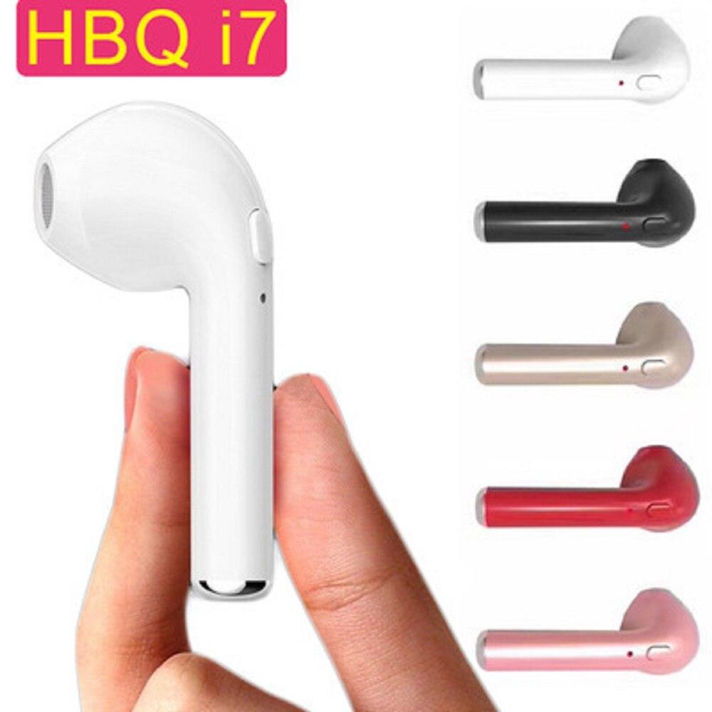 New Mini HBQ I7 Wireless Bluetooth V4.1 Earbuds headphone Music single Stereo Earphone headset for iPhone 5 6 7 Samsung xiaomi