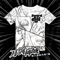 Anime Sword Art Online Kirito T-shirt Polyester SAO Cool T Shirt Summer Active Otaku Men Women Clothing