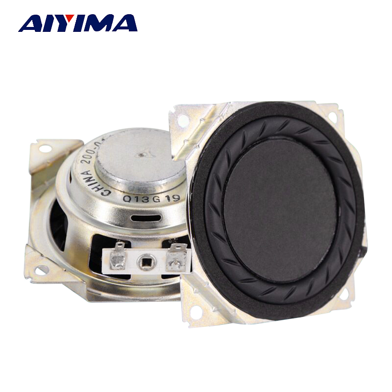 AIYIMA 2Pcs 3 Inch Hifi Subwoofer Audio Speaker 4Ohm 20W Neodymium Magnetic Bass Speaker Audio Loudspeaker