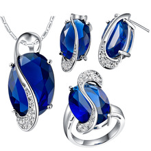 Jewelry sets for women fashion silver color jewelry  gold color crystal female necklaces rings stud earrings marry jewelry se